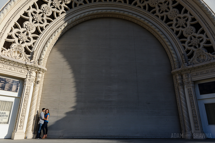 balboa park engagement photos, beautiful light, san diego engagement photographer, sunset, sunset cliffs engagement photos, sunset engagement photos